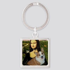 Poster-small-Mona-Corgi L Square Keychain