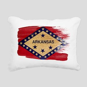 Arkansastex3-paint style Rectangular Canvas Pillow