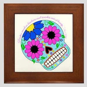 Words of Wisdom-Beautiful Skull Framed Tile