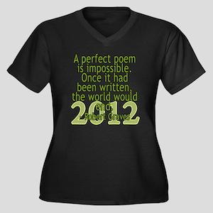 a perfect po Women's Plus Size Dark V-Neck T-Shirt