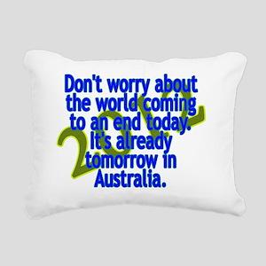 dont worry - charles sch Rectangular Canvas Pillow