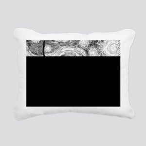 Starry Night - Black and Rectangular Canvas Pillow