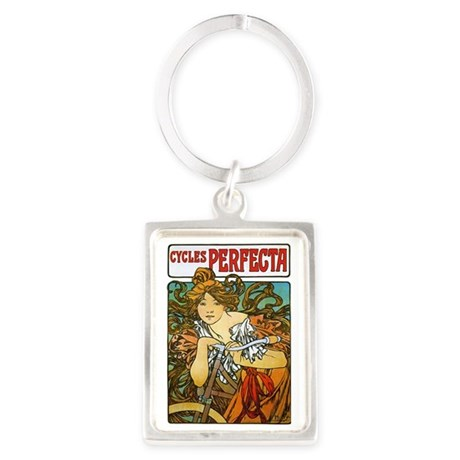 Cycles Perfecta by Alphonse Much Portrait Keychain