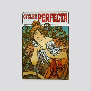 Cycles Perfecta by Alphonse Mucha Rectangle Magnet