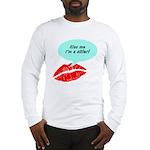 Kiss me I'm a skier Long Sleeve T-Shirt