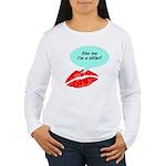 Kiss me I'm a skier Women's Long Sleeve T-Shirt