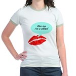 Kiss me I'm a skier Jr. Ringer T-Shirt