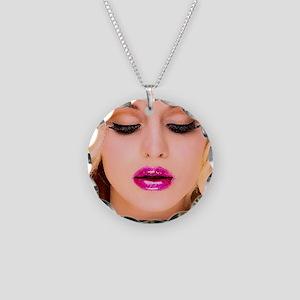 diva1 Necklace Circle Charm