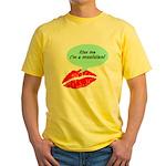 Kiss me I'm a muscian Yellow T-Shirt