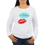 Kiss me I'm a muscian Women's Long Sleeve T-Shirt