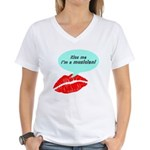 Kiss me I'm a muscian Women's V-Neck T-Shirt