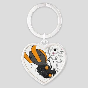 Snowmobile Orange for DARK Heart Keychain