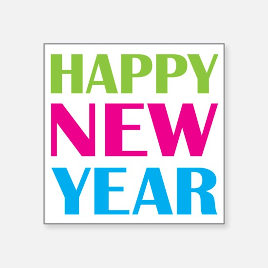 "NEW YEAR Square Sticker 3"" x 3"""