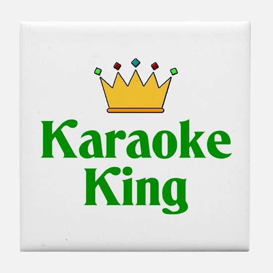 Karaoke King Tile Coaster