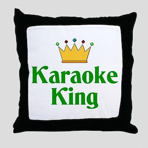 Karaoke King Throw Pillow