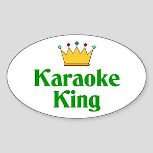 Karaoke King Oval Sticker