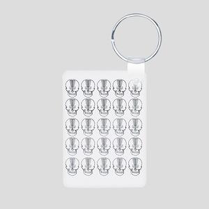 Many Mini Skull Catchers M Aluminum Photo Keychain