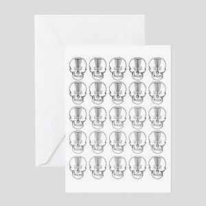 Many Mini Skull Catchers Metal Greeting Card