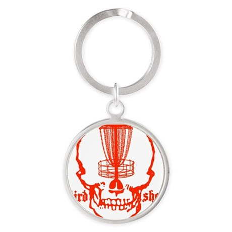 Skull Catcher Red Round Keychain