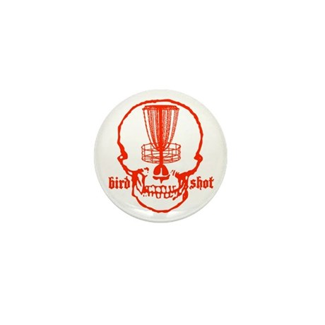 Skull Catcher Red Mini Button