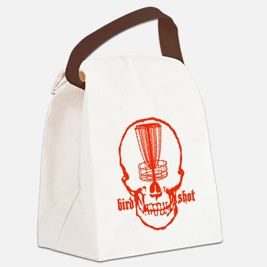 Skull Catcher Red Canvas Lunch Bag