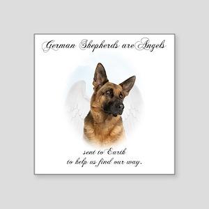 "German Shepherd Angel Square Sticker 3"" x 3"""