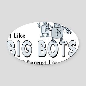 BigBots_smalls Oval Car Magnet