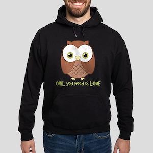 owlyouneedislove2 Hoodie (dark)