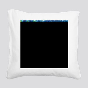 Starry Night - Remixed Square Canvas Pillow