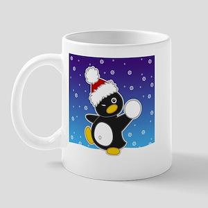 Snowball Penguin Mug