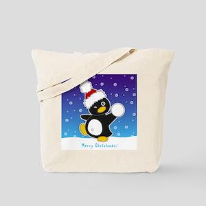 Snowball Penguin Tote Bag