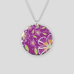 purple_bouquet_blanket Necklace Circle Charm