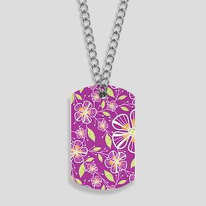 purple_bouquet_journal Dog Tags