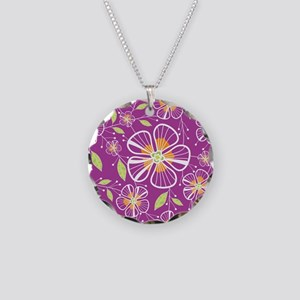 purple_bouquet_mousepad Necklace Circle Charm