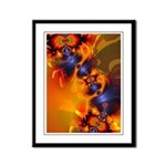 Orange Eyes Aglow Framed Panel Print