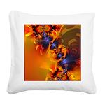 Orange Eyes Aglow Square Canvas Pillow