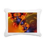 Orange Eyes Aglow Rectangular Canvas Pillow