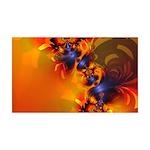 Orange Eyes Aglow 35x21 Wall Decal