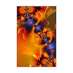 Orange Eyes Aglow Mini Poster Print