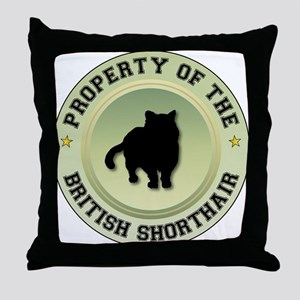 Shorthair Property Throw Pillow