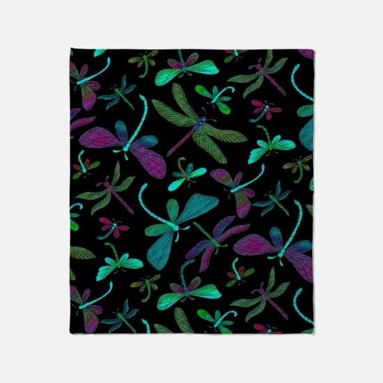 dragonfly-m1-black copyu Throw Blanket