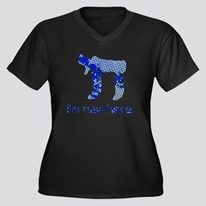 hi_new_5 Women's Plus Size Dark V-Neck T-Shirt