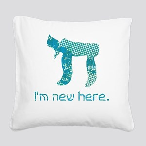 hi_new_2 Square Canvas Pillow