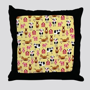 Farm Animals Throw Pillow