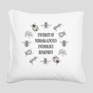 UNL_entoDept Square Canvas Pillow