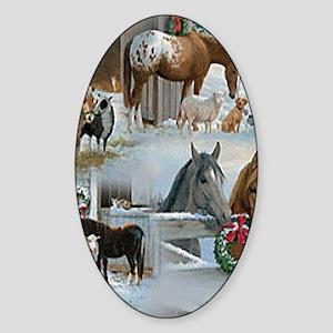 horses Sticker (Oval)
