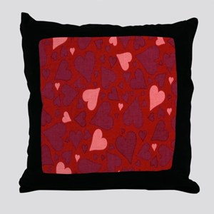 Hearts Red pink Throw Pillow