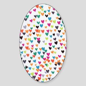 Hearts OPlenty Sticker (Oval)