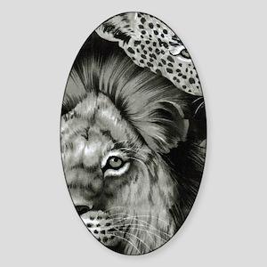 Lion Eye Sticker (Oval)