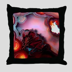 Fire-Agate-Quartz-iPad 2 Throw Pillow